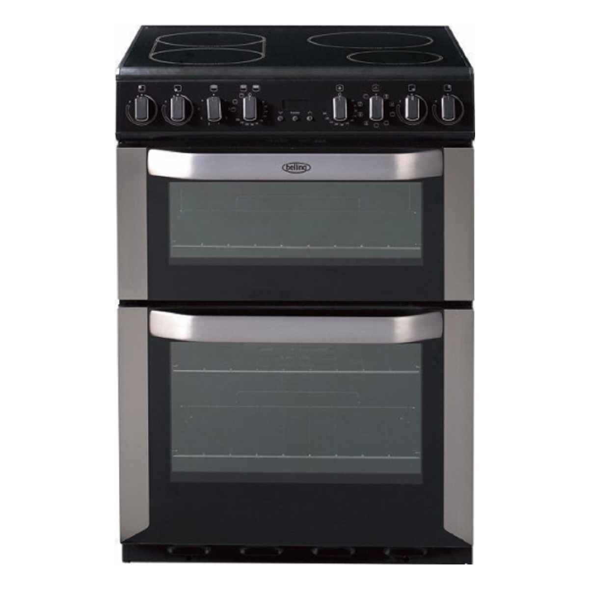 Belling FSE60IS 60cm Freestanding Electric Cooker with Double Oven 28497