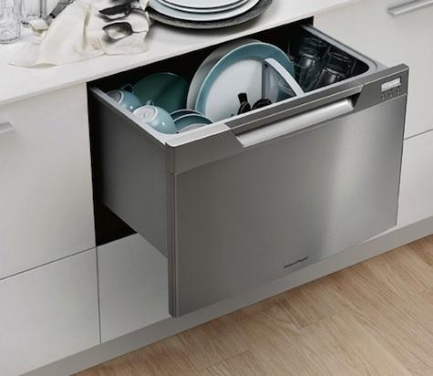 this style of dishwasher is exclusive to fisher paykel it opens in