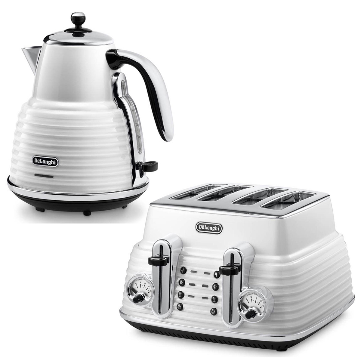 Delonghi Kettle and Toaster CTZ4003W-KBZ2001W