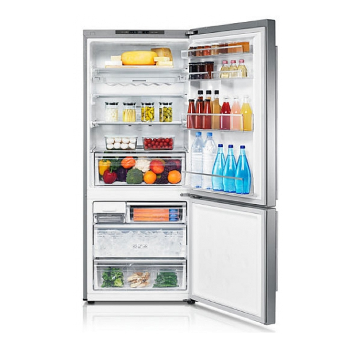 Samsung SRL458ELS 458Litres Bottom Mount Fridge 22916