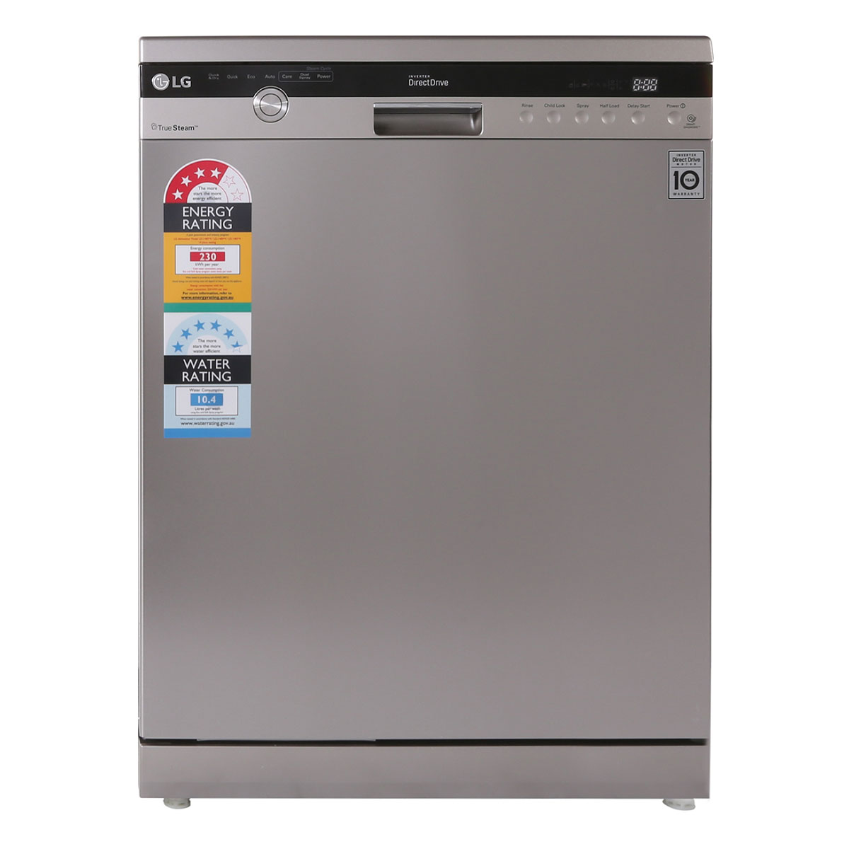 LG LD1484T4 Freestanding Stainless Dishwasher with True Steam
