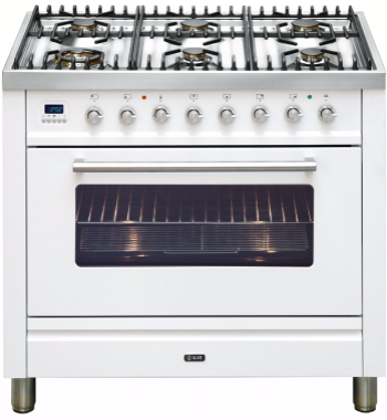 Freestanding Ilve Dual Fuel Oven/Stove NT906WMPW