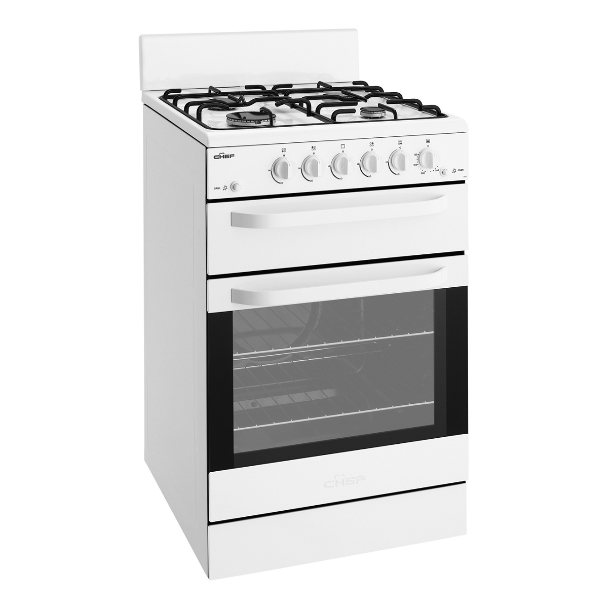 Chef CFG515WALP Freestanding LPG Gas Oven/Stove