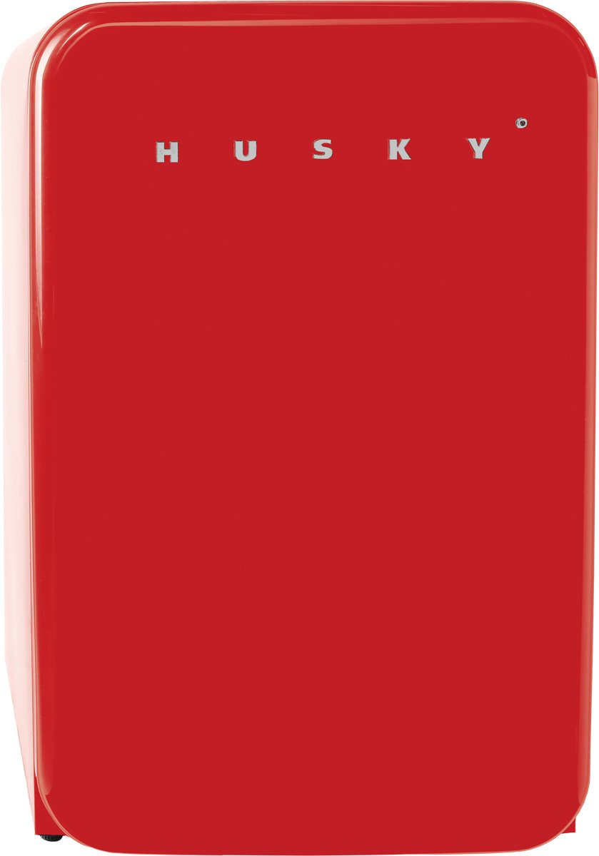 Husky HUS-RETRO110RED 110L Bar Fridge