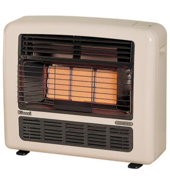 Rinnai 252N Granada Unflued Natural Gas Radiant Heater - Off White