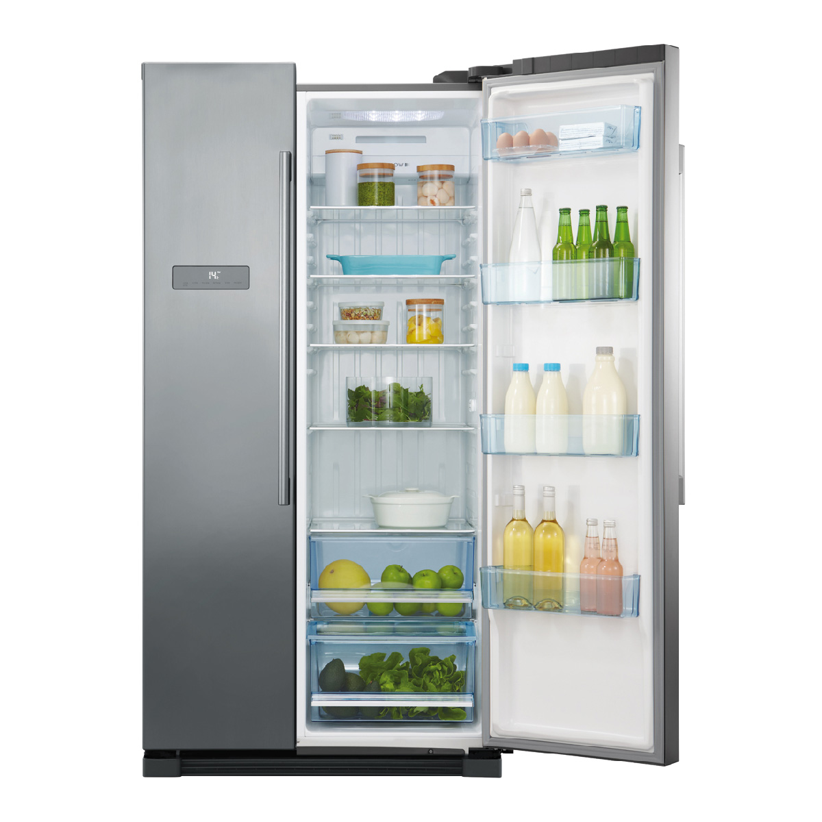 haier hsbs628as 629litres side by side fridge up to 60 off. Black Bedroom Furniture Sets. Home Design Ideas