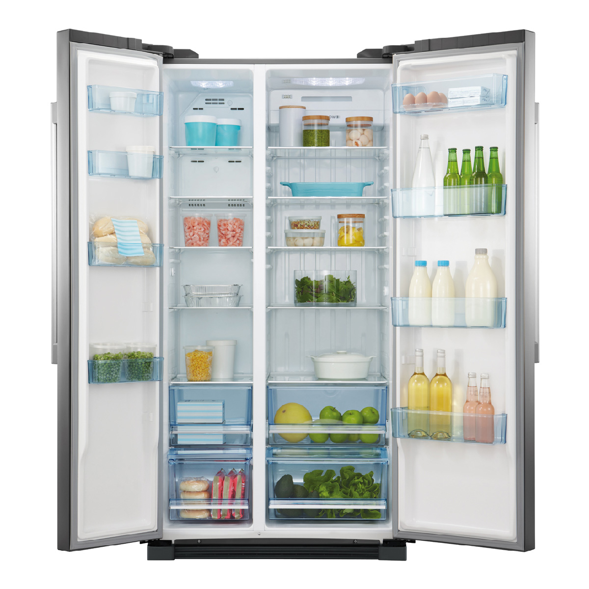 haier hsbs628as 629litres side by side fridge home clearance. Black Bedroom Furniture Sets. Home Design Ideas