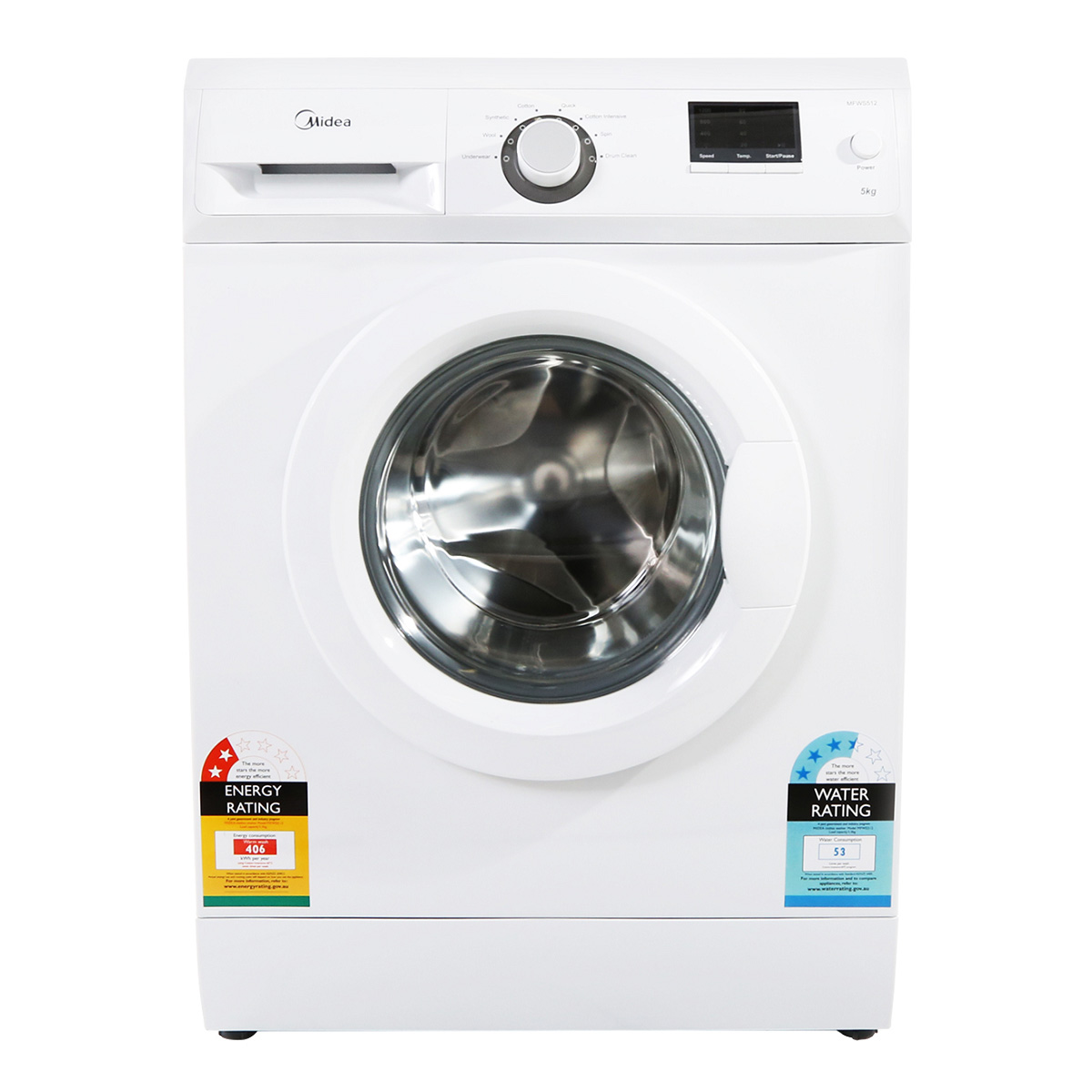 Midea MFWS512 5kg Front Load Washing Machine