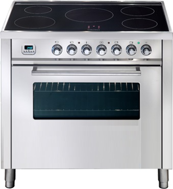 Ilve PWI90MPSS Freestanding Electric Oven/Stove