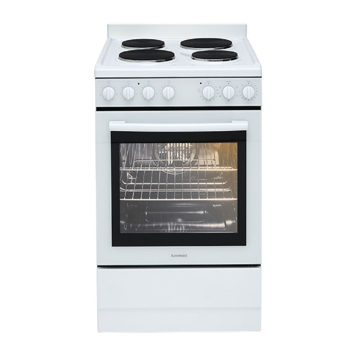 Euromaid EFF54W Freestanding Electric Oven/Stove