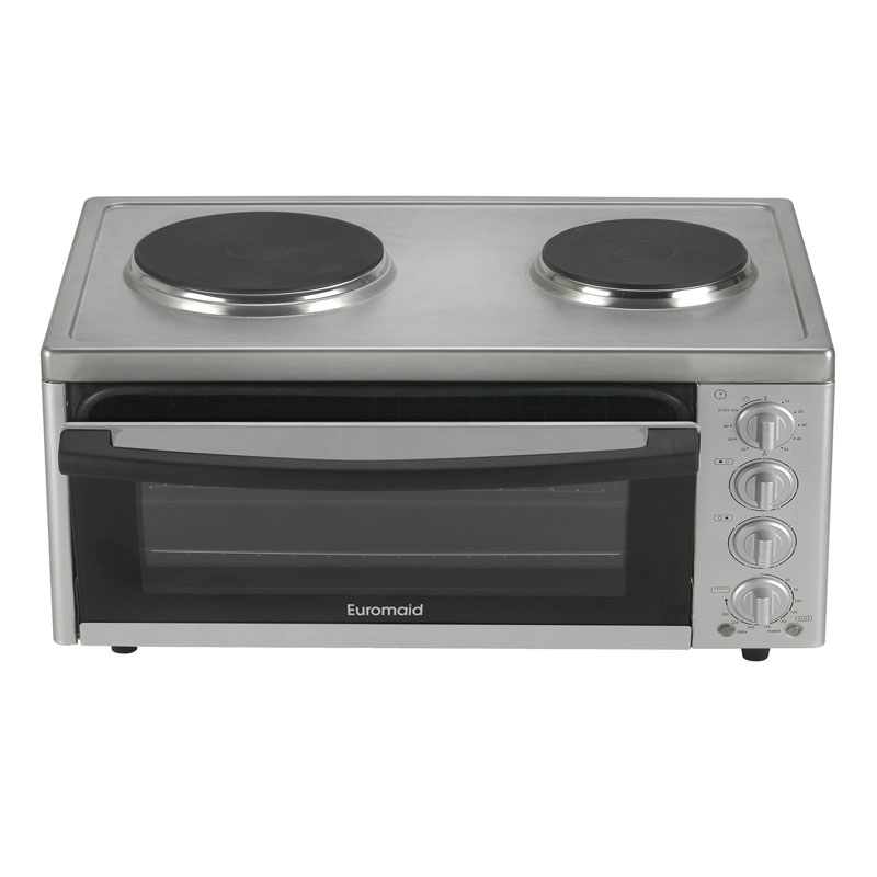 Euromaid MC130T 57cm Benchtop Oven with Top Cooker 24759