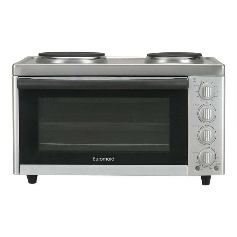 Euromaid MC130T 57cm Benchtop Oven with Top Cooker 24758