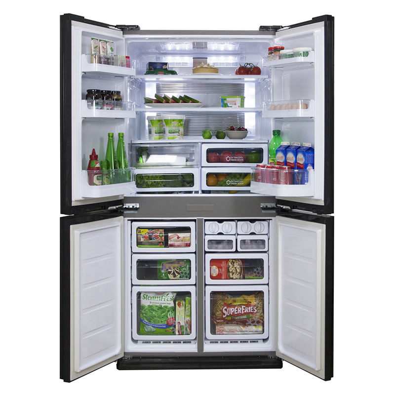 Sharp Sjxe624fsl 624lires French Door Fridge Up To 60 Off