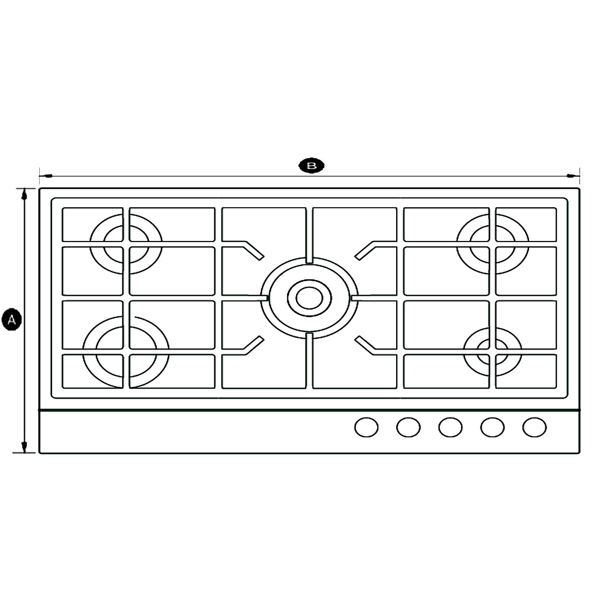 Fisher & Paykel CG905DX1 900mm Gas Cooktop 31821