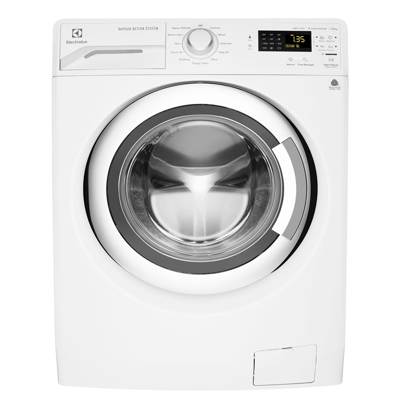 Electrolux EWF12753 7.5Kg Front Load Vapour Washing Machine