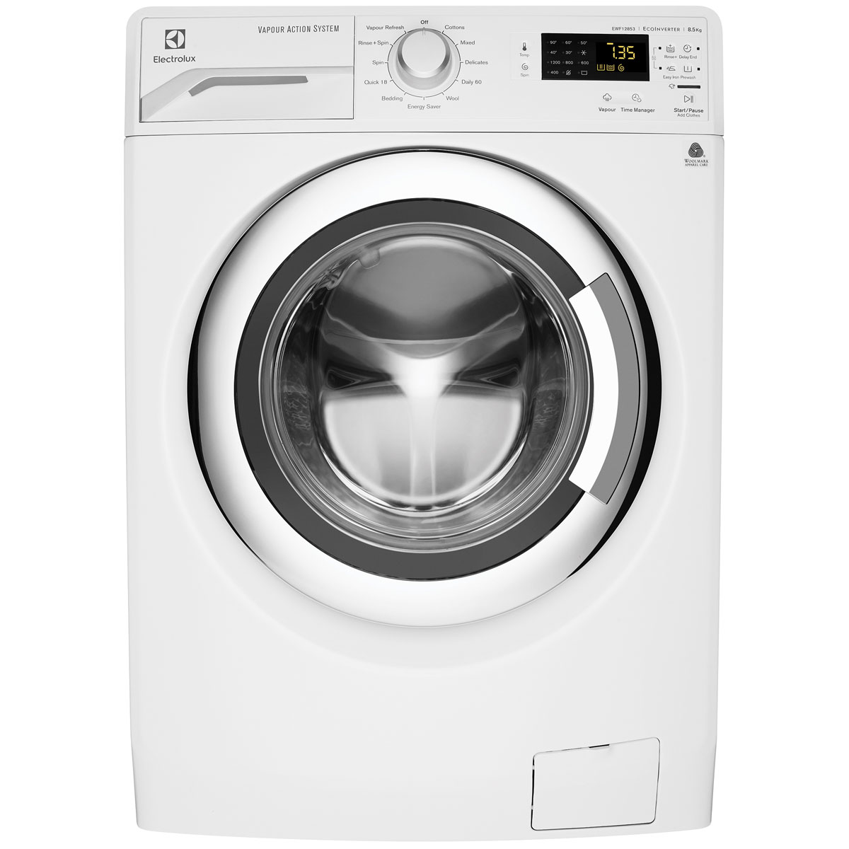 Electrolux EWF12853 8.5 Kg Front Load Vapour Washing Machine