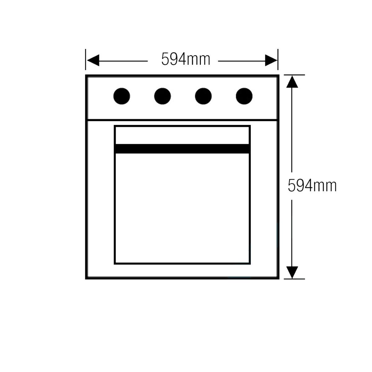 Ilve ILO690X 600mm/60cm Electric Wall Oven 32958
