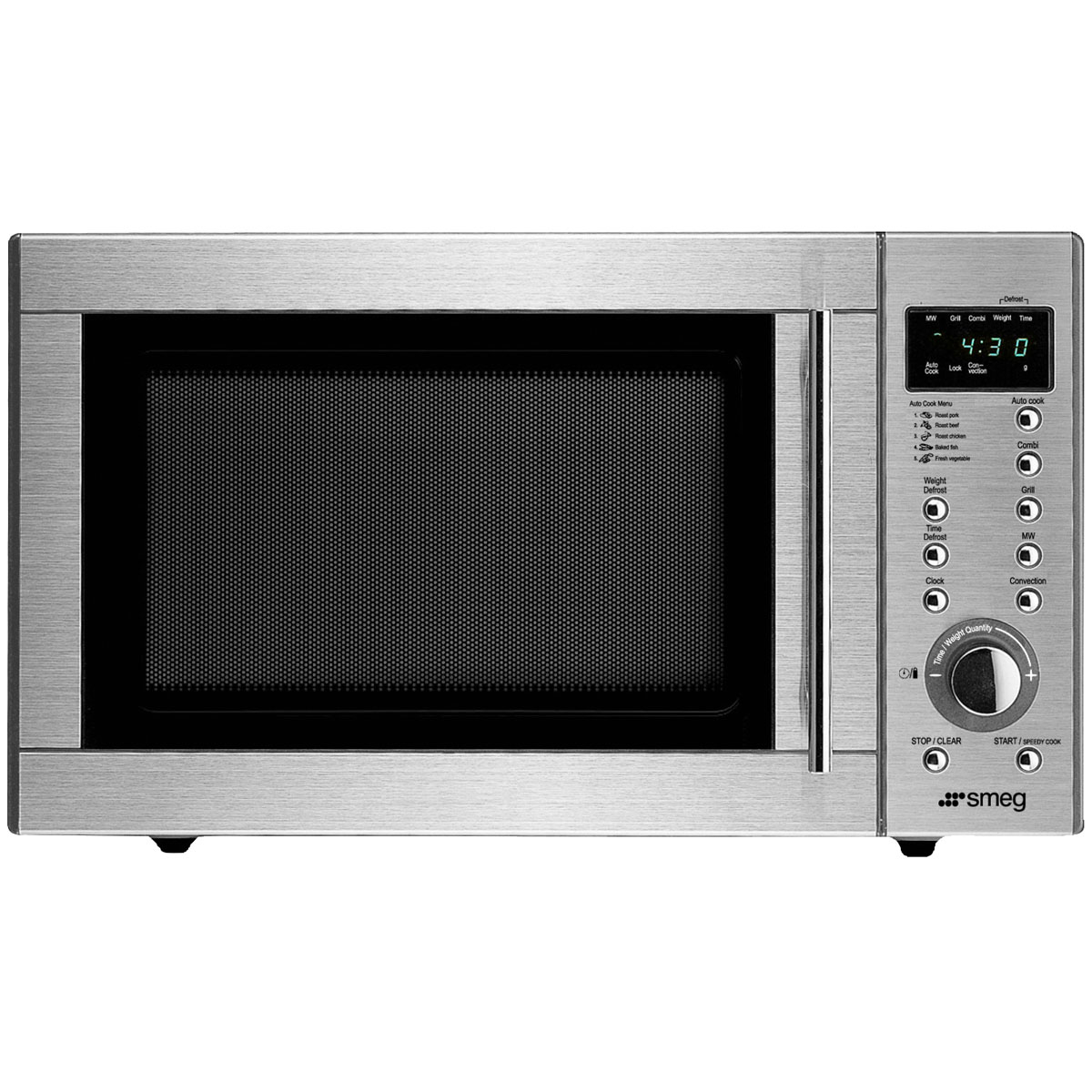 Smeg SA985-2CX1 950W Convection Microwave Oven