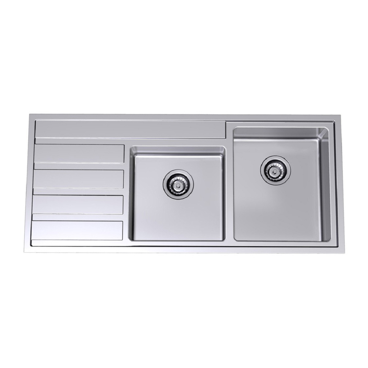 Clark 6640-1R Pete Evans 1.75 Bowl Undermount Sink With One Tap Hole 37361