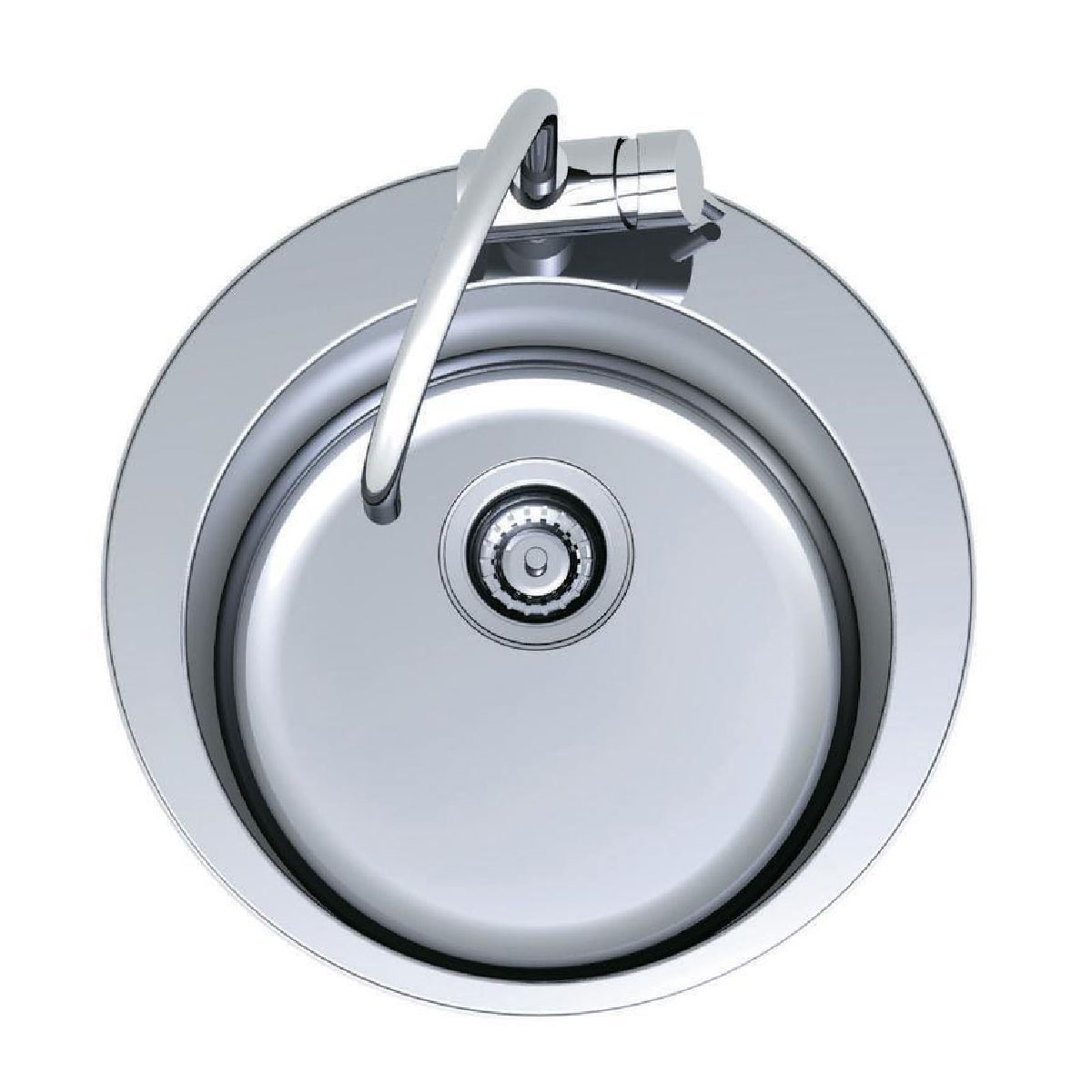 Clark Cellini Single Bowl Sink with Tap Landing - No Tap Hole 37521