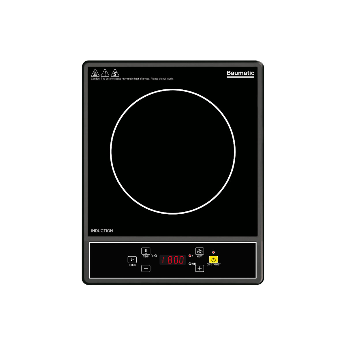 Baumatic BHI100 Portable Induction Cooktop