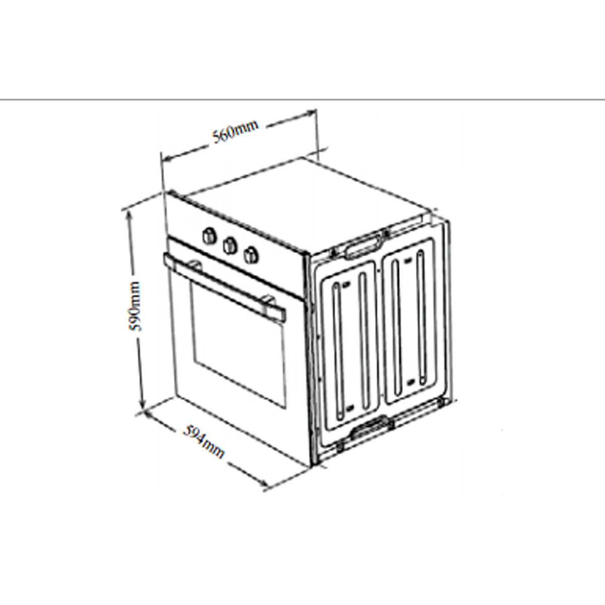 Omega 60cm Electric Wall Oven OO6A2X 38184
