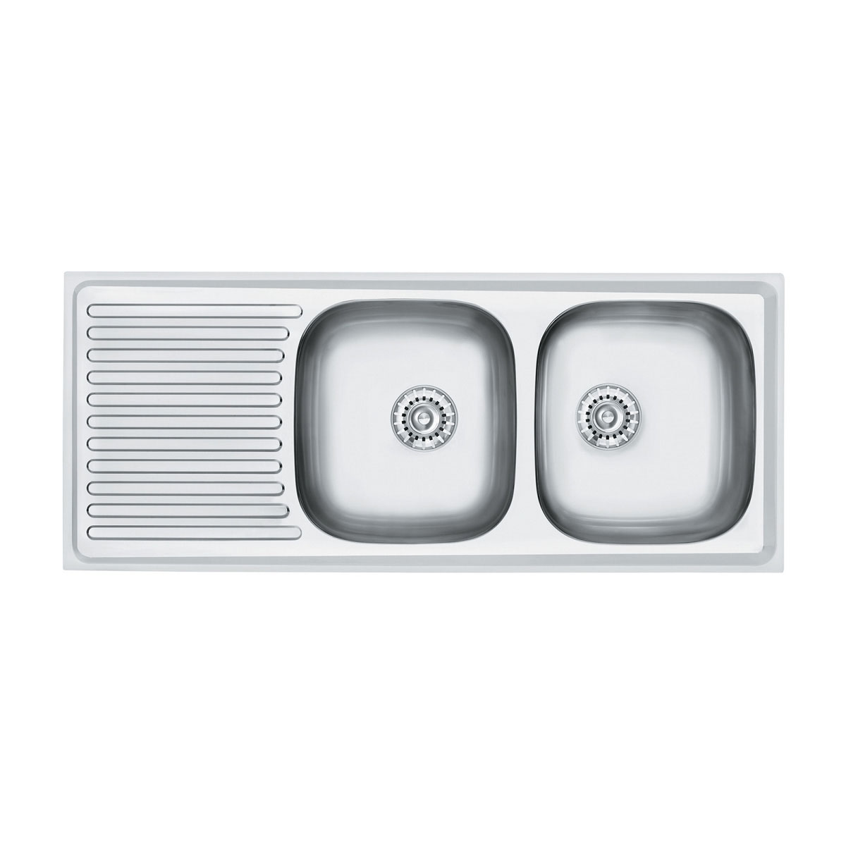 Clark R175MK2-1R Radiant Double Bowl Sink with Left Hand Drainer