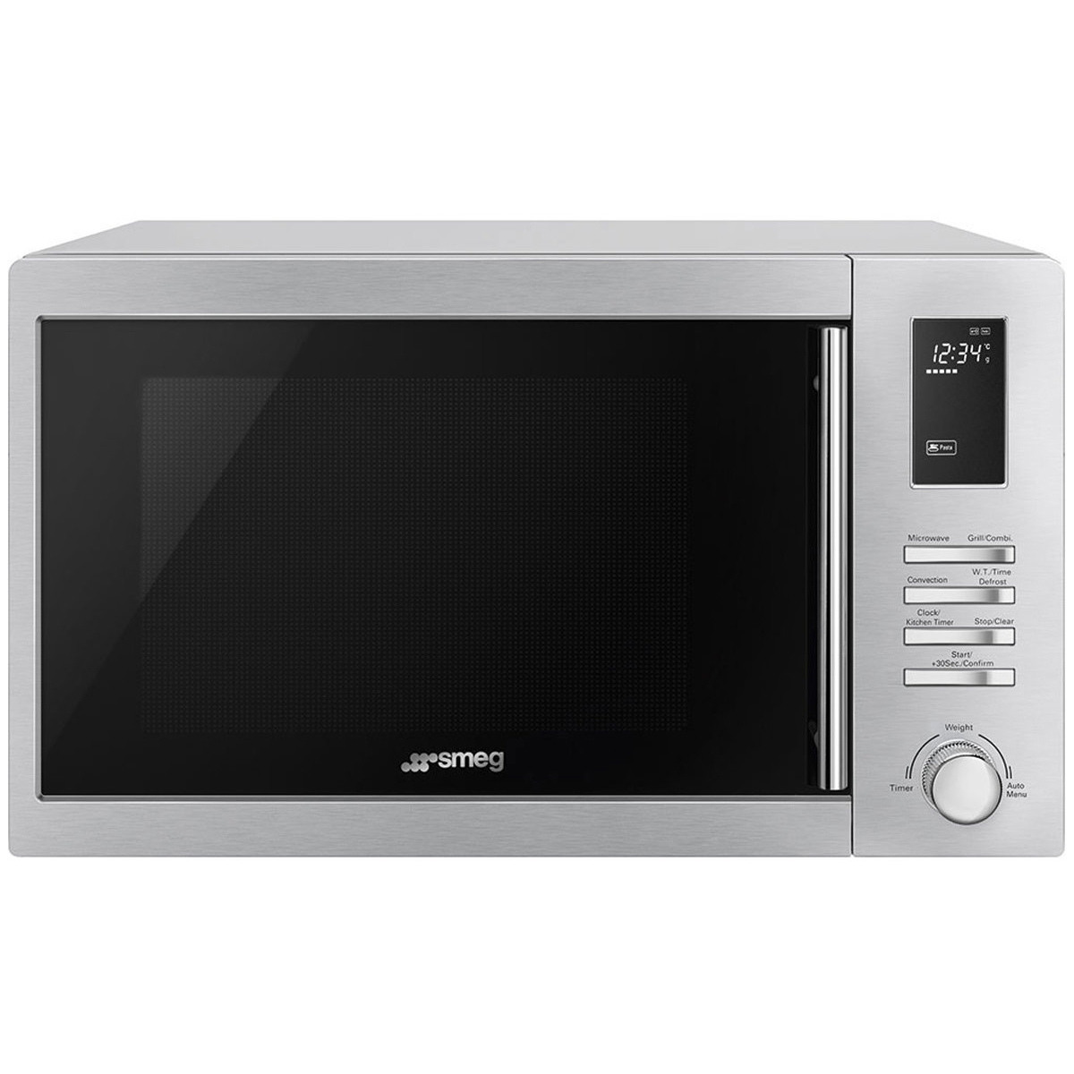 Smeg SA34MX 34L Freestanding Microwave With Grill