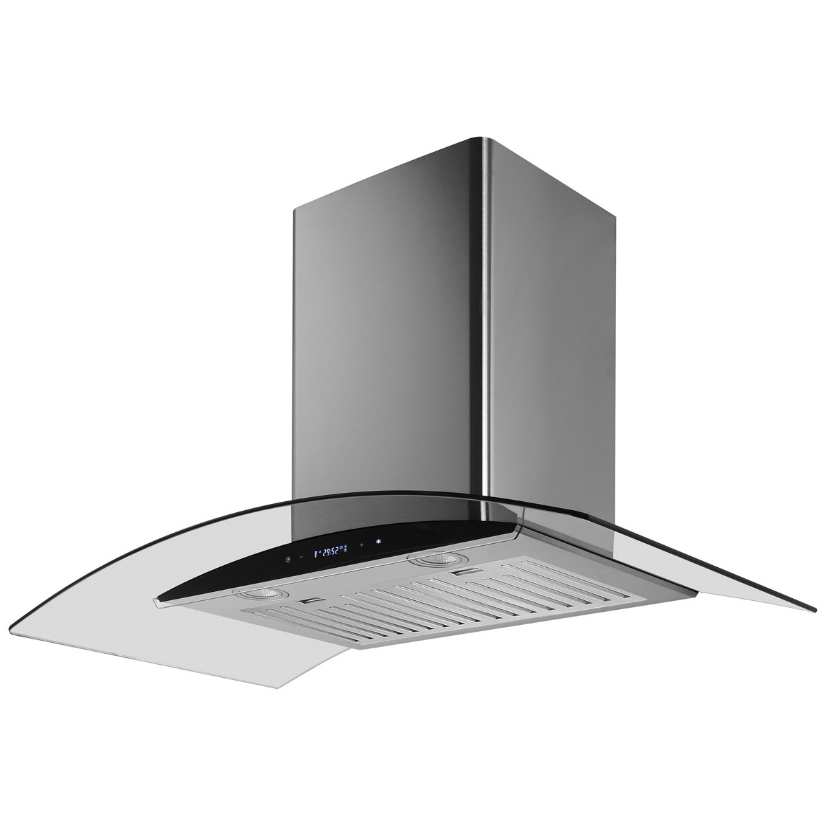 Residentia RH92GB 90cm Curved Glass Canopy Rangehood