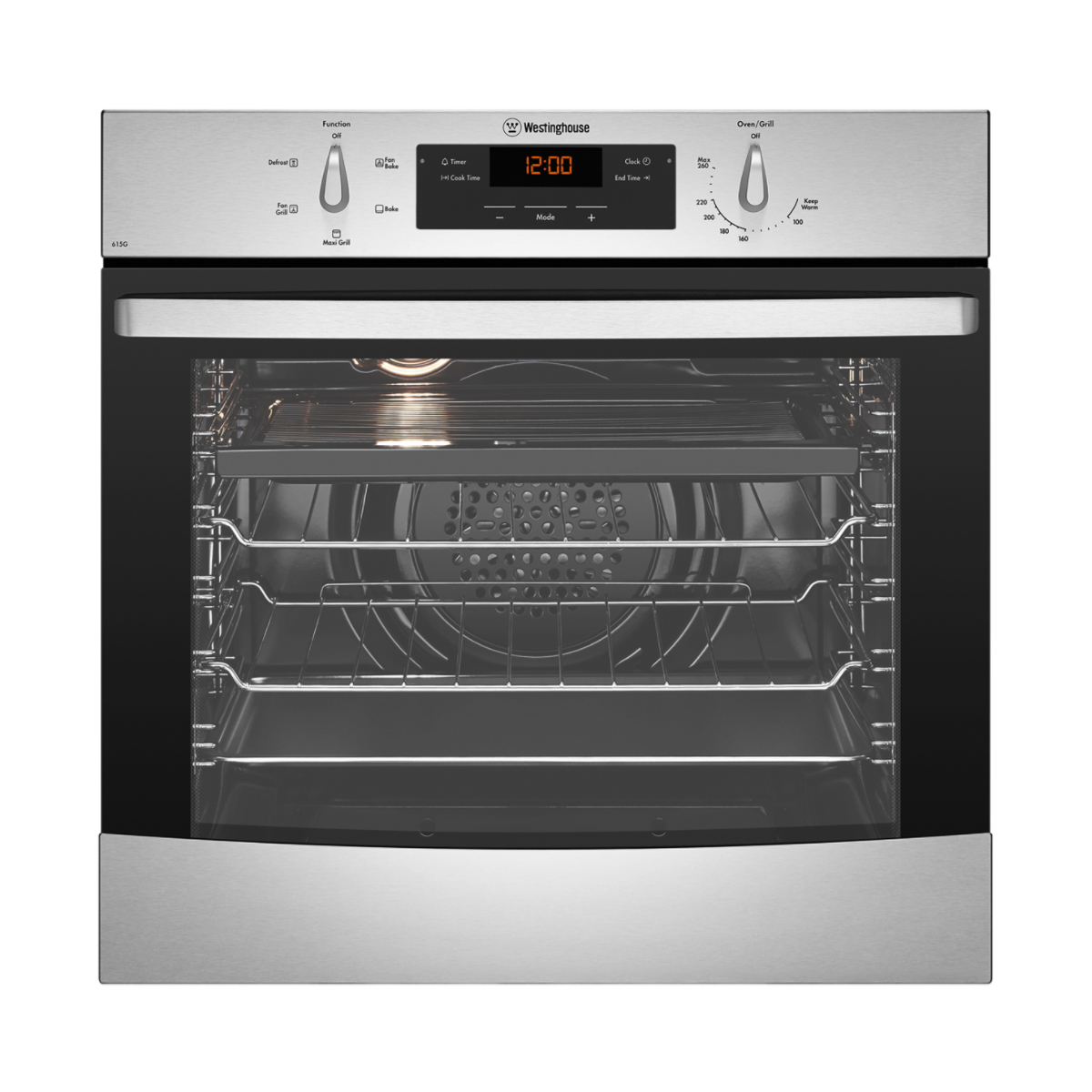 Westinghouse WVG615SLPG 60cm LPG Gas Built-In Oven | Home ...