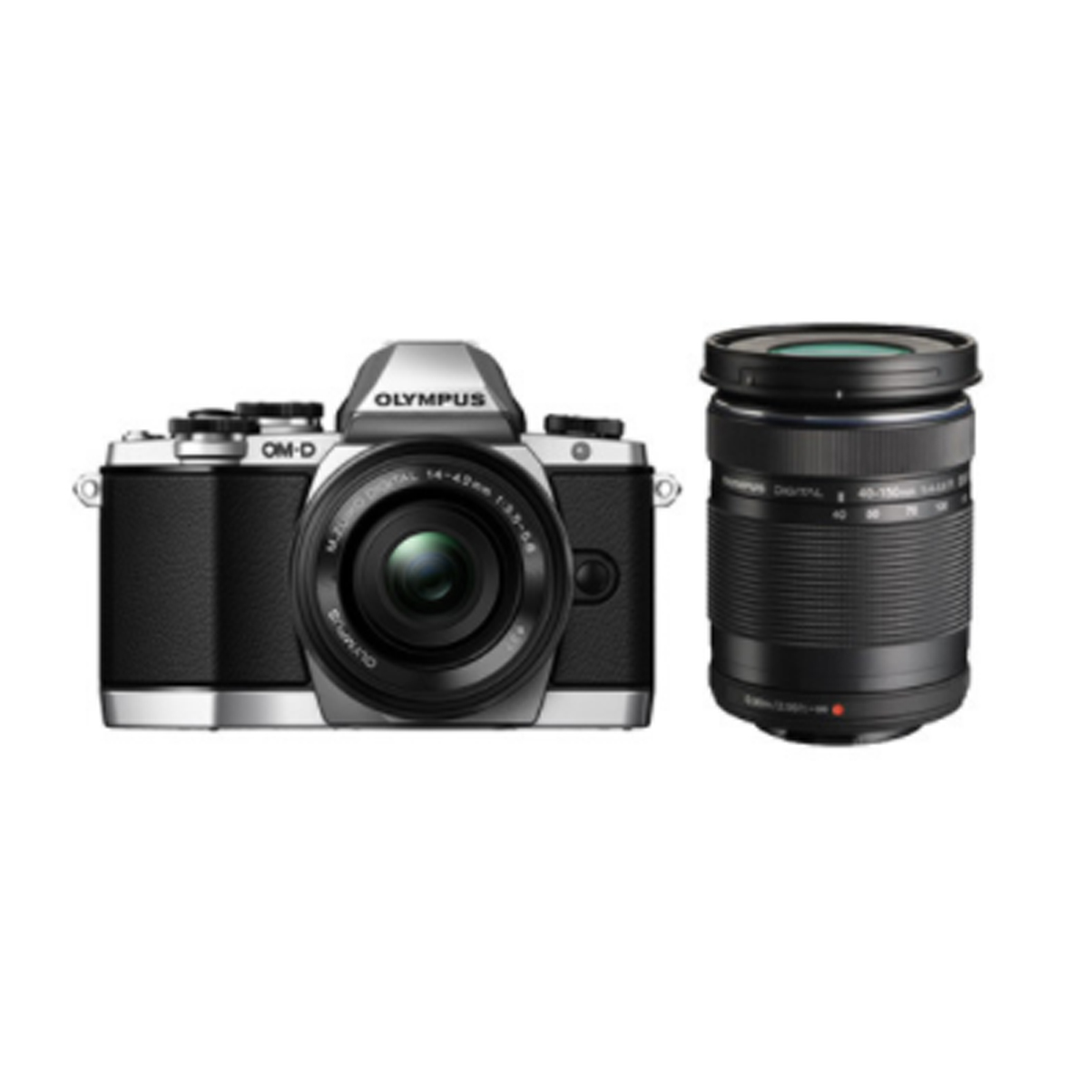 Olympus V207020SA020 OM-D E-M10 Mirrorless Camera with Double Zoom Kit (14-42mm EZ & 40-150mm Lens)
