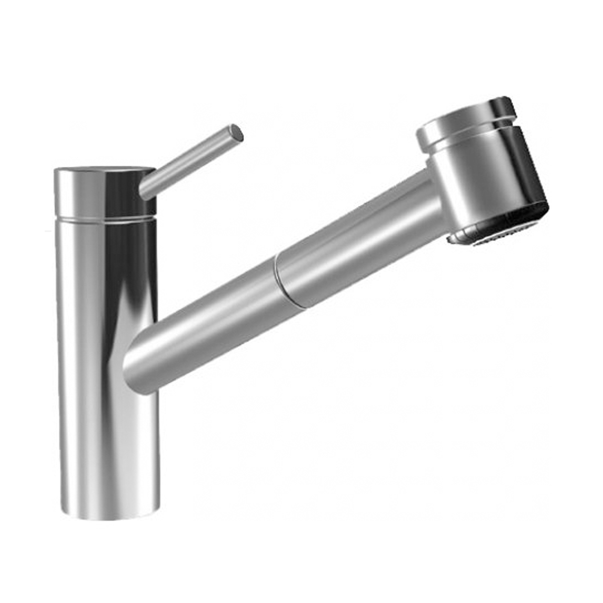 KWC 10.271.033.700 Suprimo Series Pull Out Spray Stainless Steel Kitchen Faucet