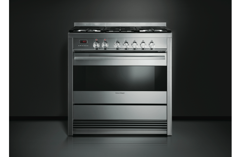Fisher & Paykel OR90SDBGFPX1 Pyrolytic Freestanding Dual Fuel Oven/Stove 56107