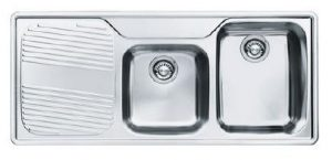 Franke ARX621LHD Ariane 1 1/2 bowl Sink with Drainer - Left Hand Drainer 194122