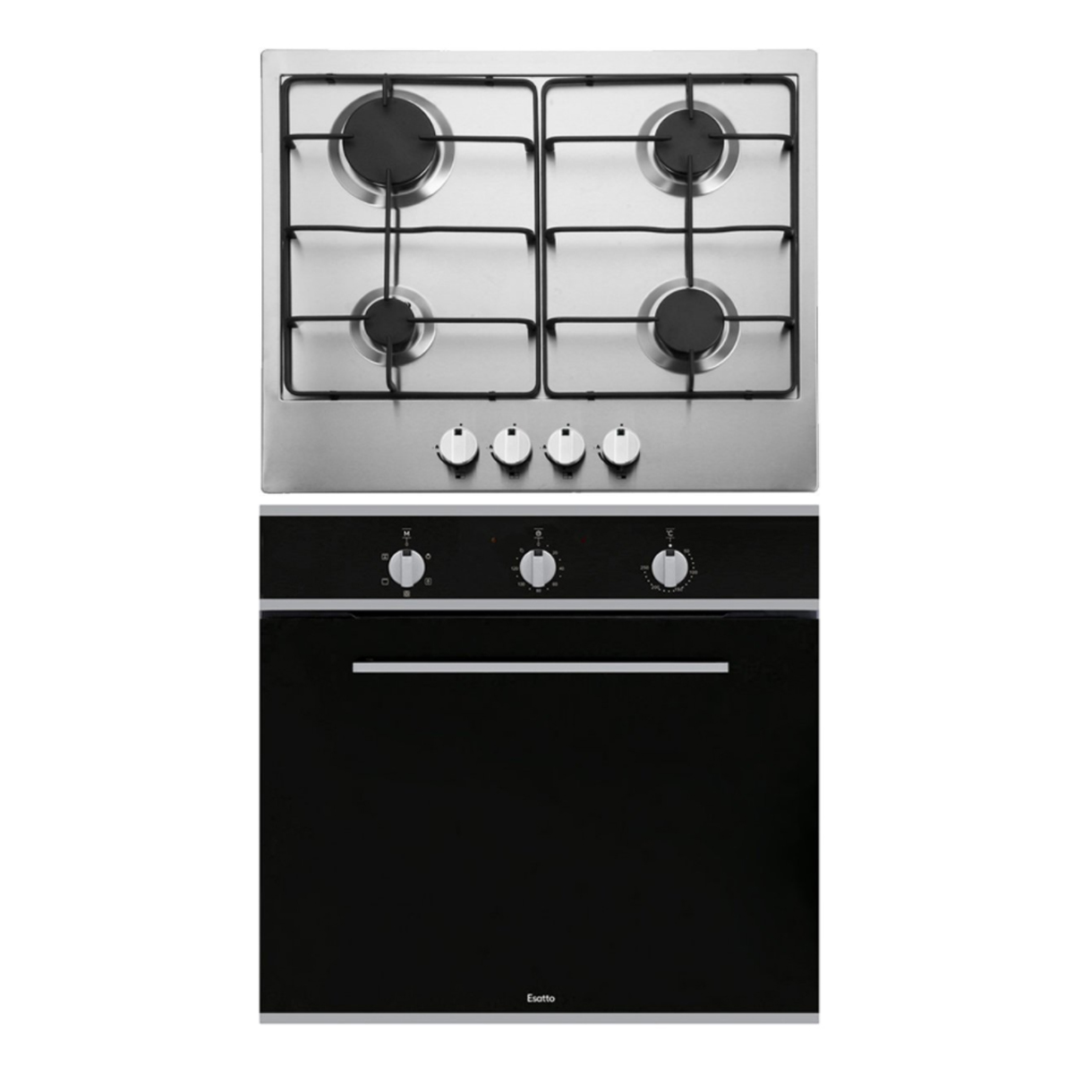 Esatto EOG6FF Electric Oven and Gas Cooktop Pack