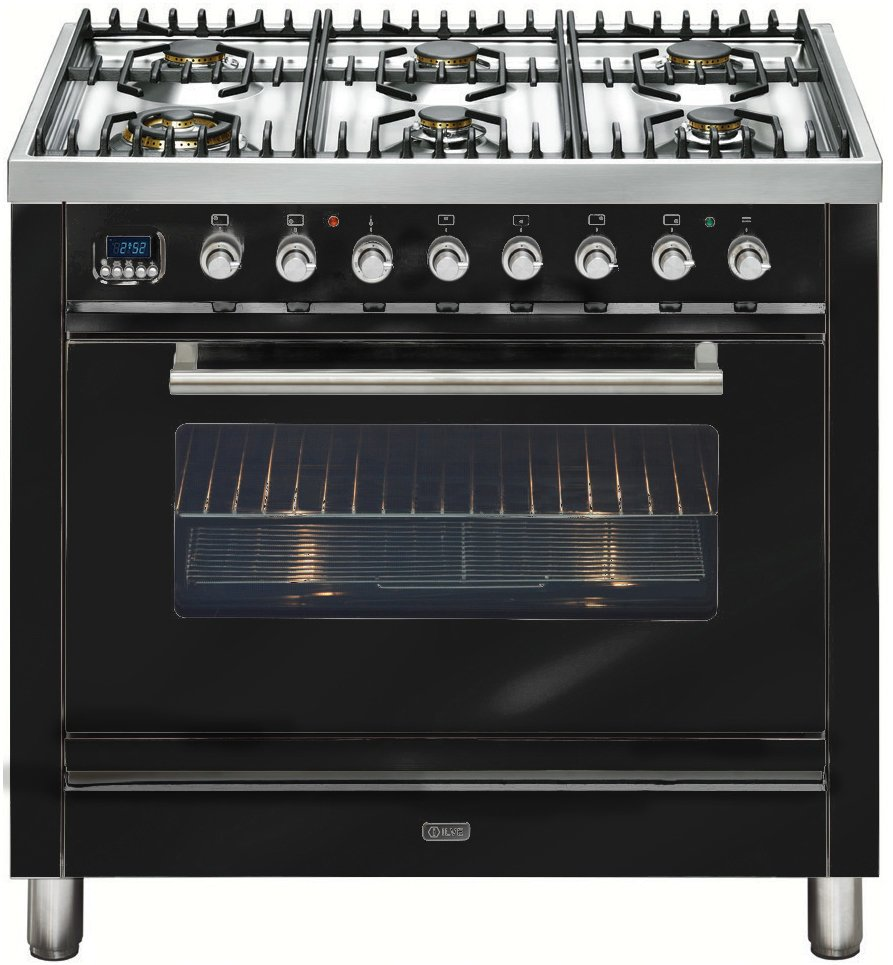 Ilve NT906WMP/N Freestanding Dual Fuel Oven/Stove