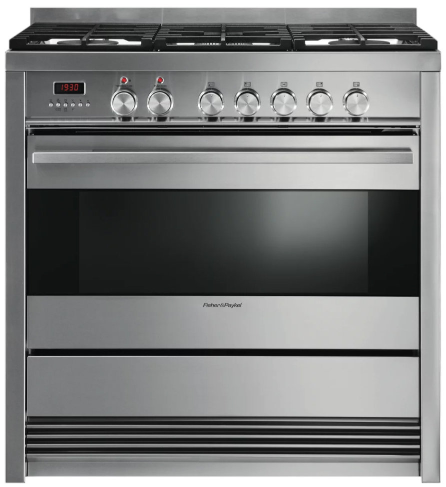 Fisher & Paykel Pyrolytic Freestanding Dual Fuel Oven/Stove OR90SDBGFPX1
