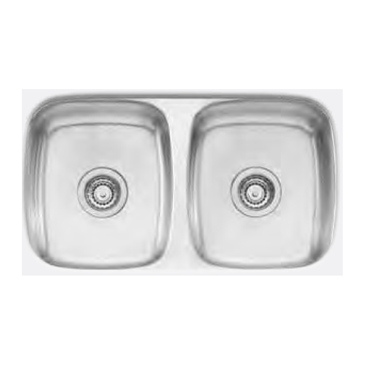 Oliveri Perle PL80U Double Bowl 750x455mm Deep Bowl Undermounted Sink 61423