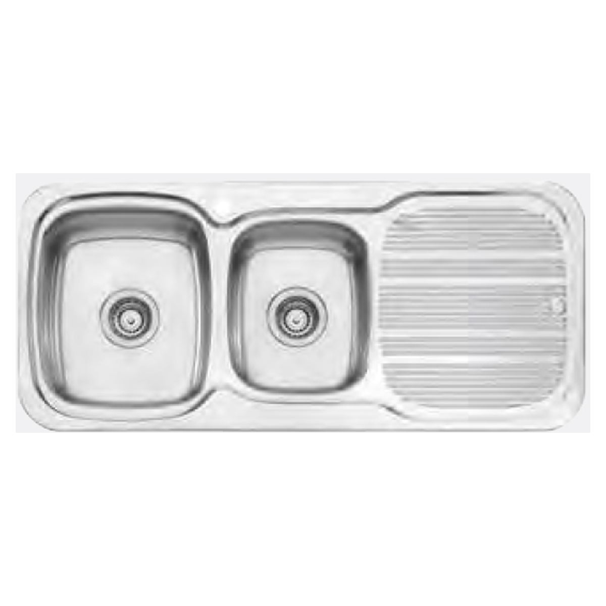 Oliveri PL811 Stainless Steel 1 & 3/4 Bowl Inset Sink with Drainer 61420