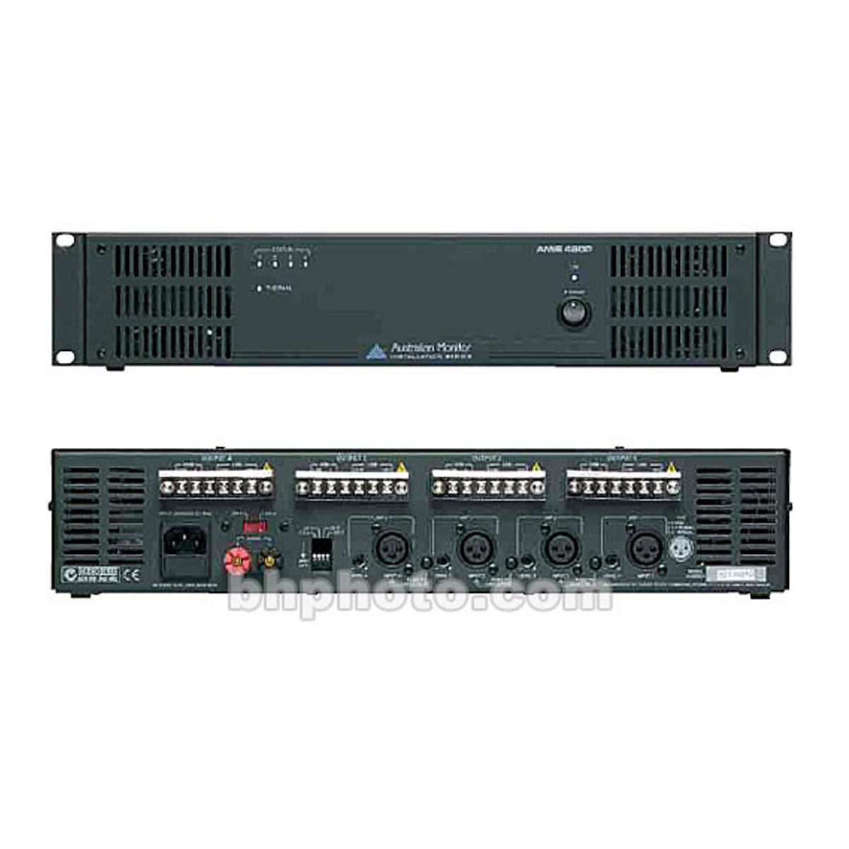 Australian Monitor Amis480p 4 Channel Power Amplifier X 80w Up Four 88482