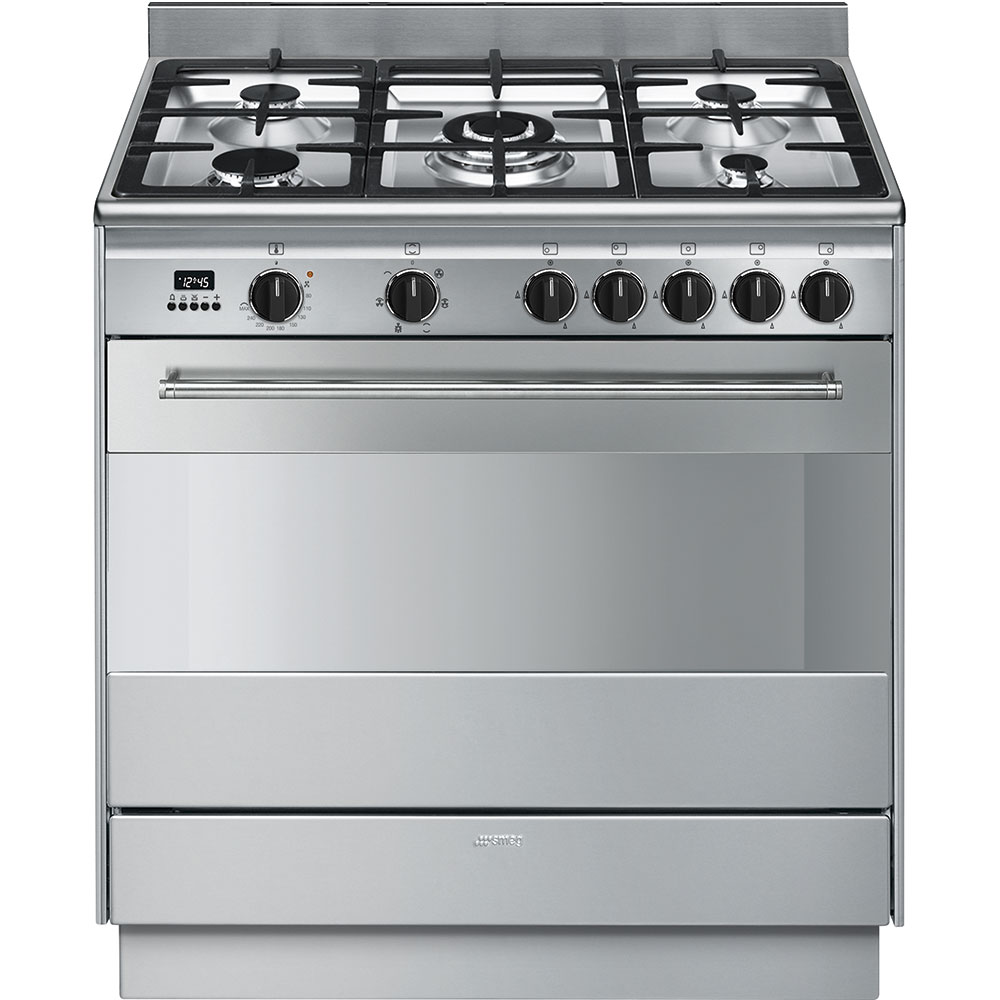 Smeg 90cm 126L Thermoseal Freestanding Cooker FS9606XSN