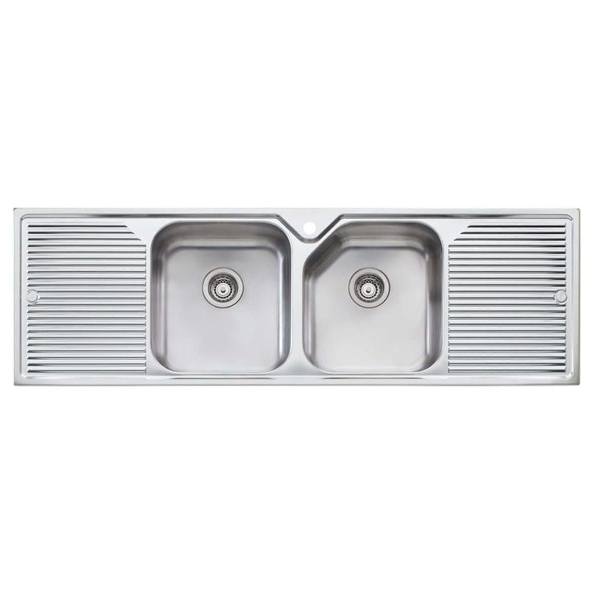 double drainer kitchen sink oliveri np653 nu bowl with drainer 6913