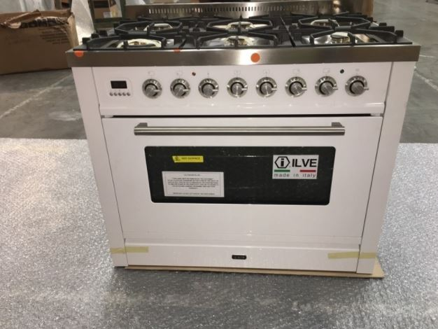 Ilve PW906MP/B Freestanding Dual Fuel Oven/Stove