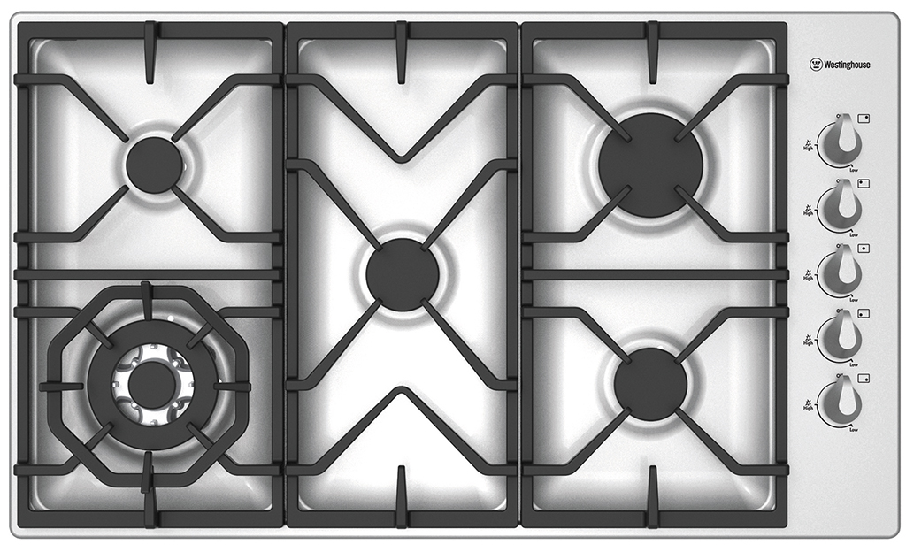 Westinghouse WHG955SA 90cm Stainless Steel Gas Cooktop 74522