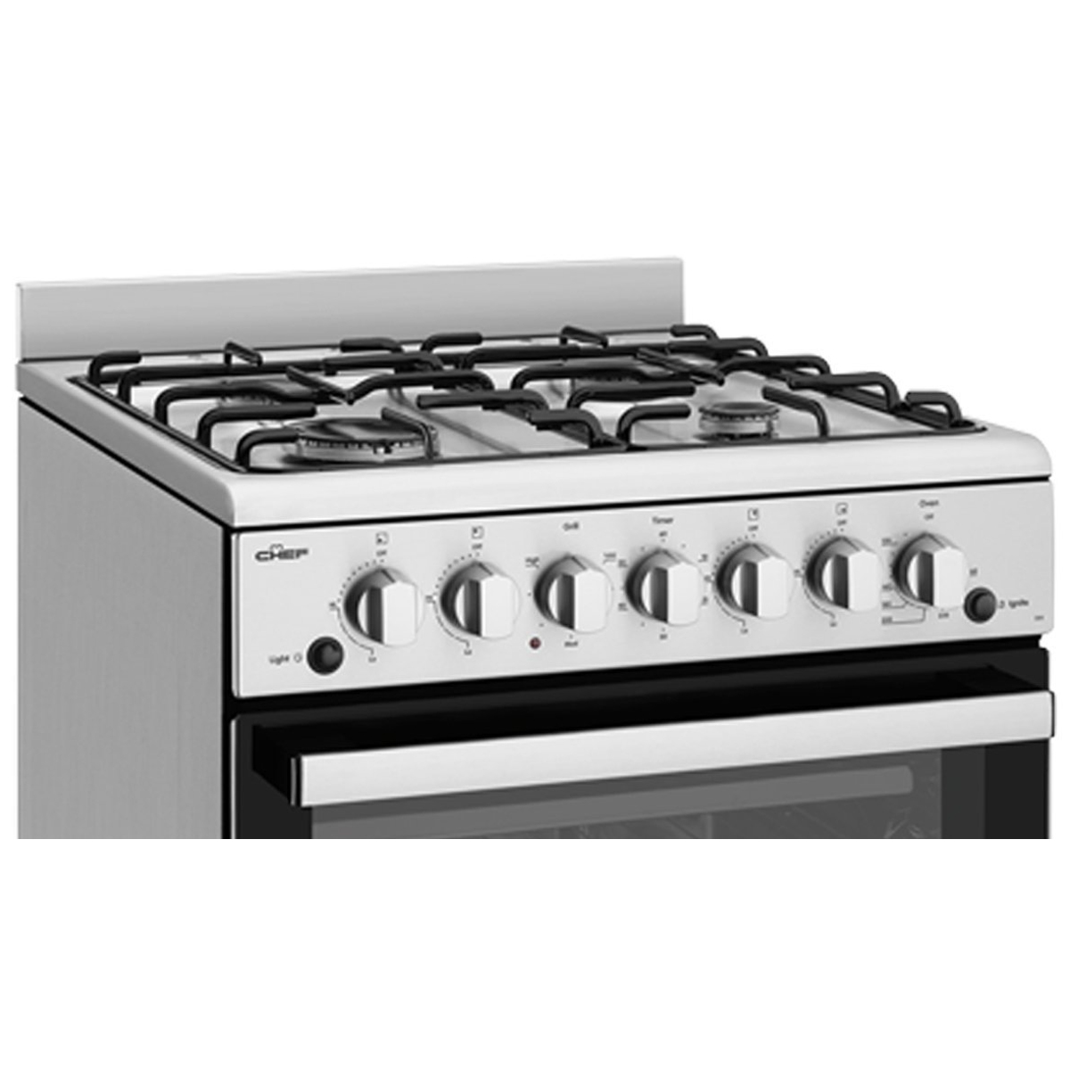 Chef CFG504SBNG 54cm Freestanding Natural Gas Oven/Stove 86464
