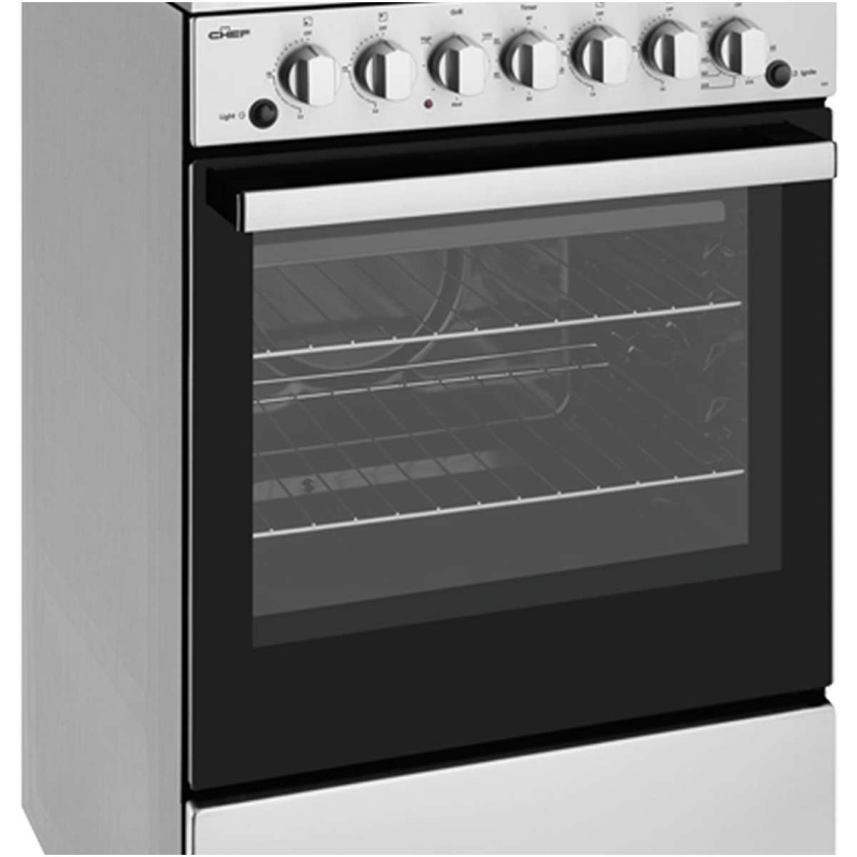 Chef CFG504SBNG 54cm Freestanding Natural Gas Oven/Stove 86465