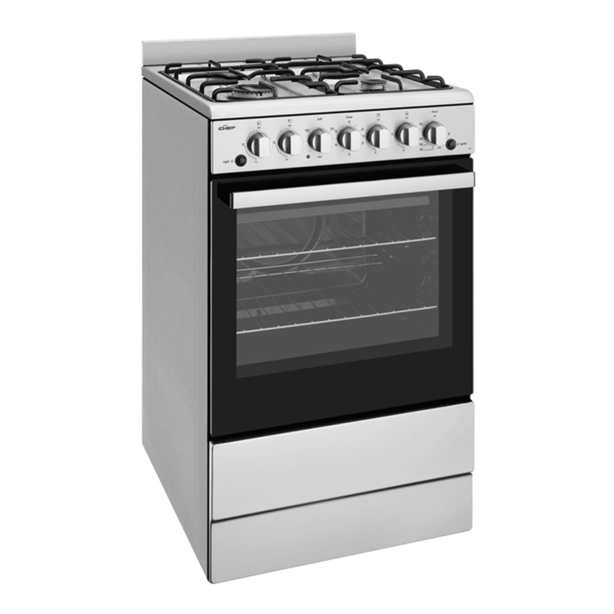 Chef CFG504SBNG 54cm Freestanding Natural Gas Oven/Stove 86463