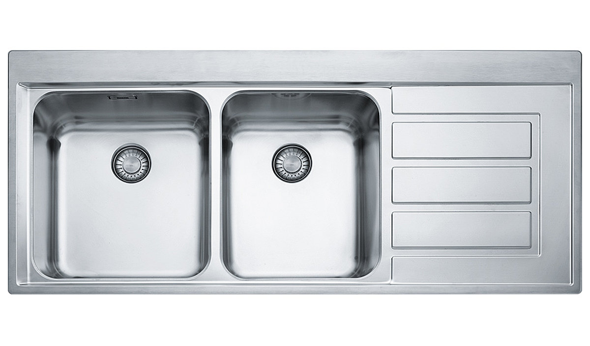 Franke EOX221RHD Epos 1 and 3/4 Bowl Right Hand Drainer Sink