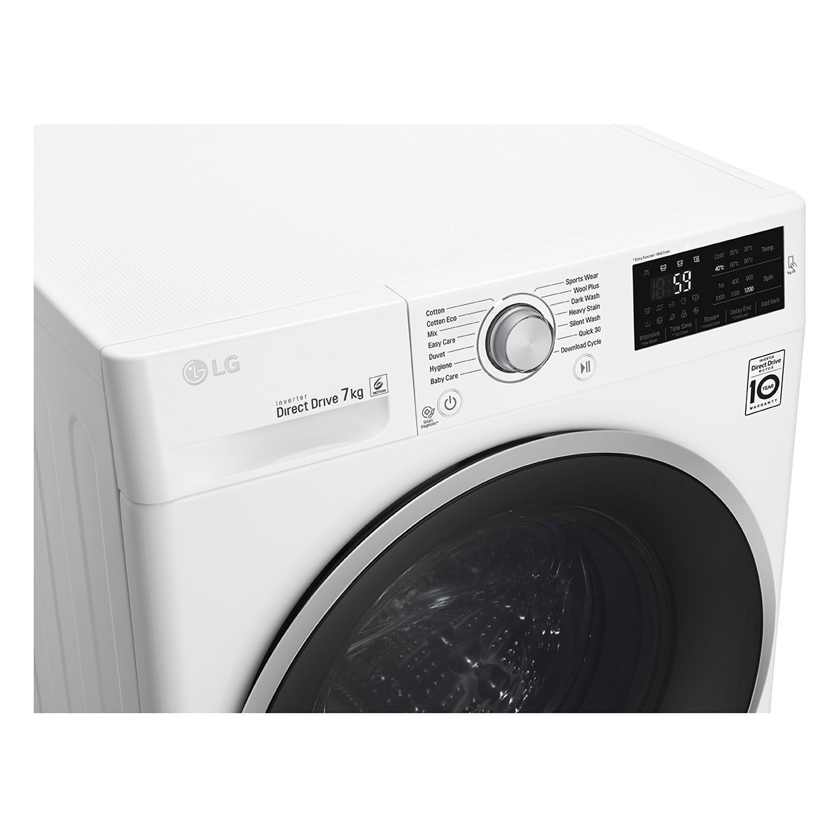 LG WD1207NCW 7kg Front Load Washer