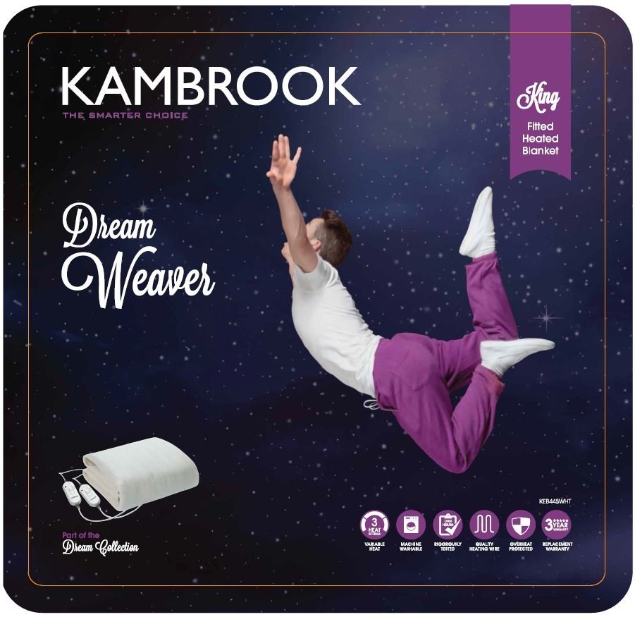 Kambrook KEB445WHT King Fitted Electric Blanket